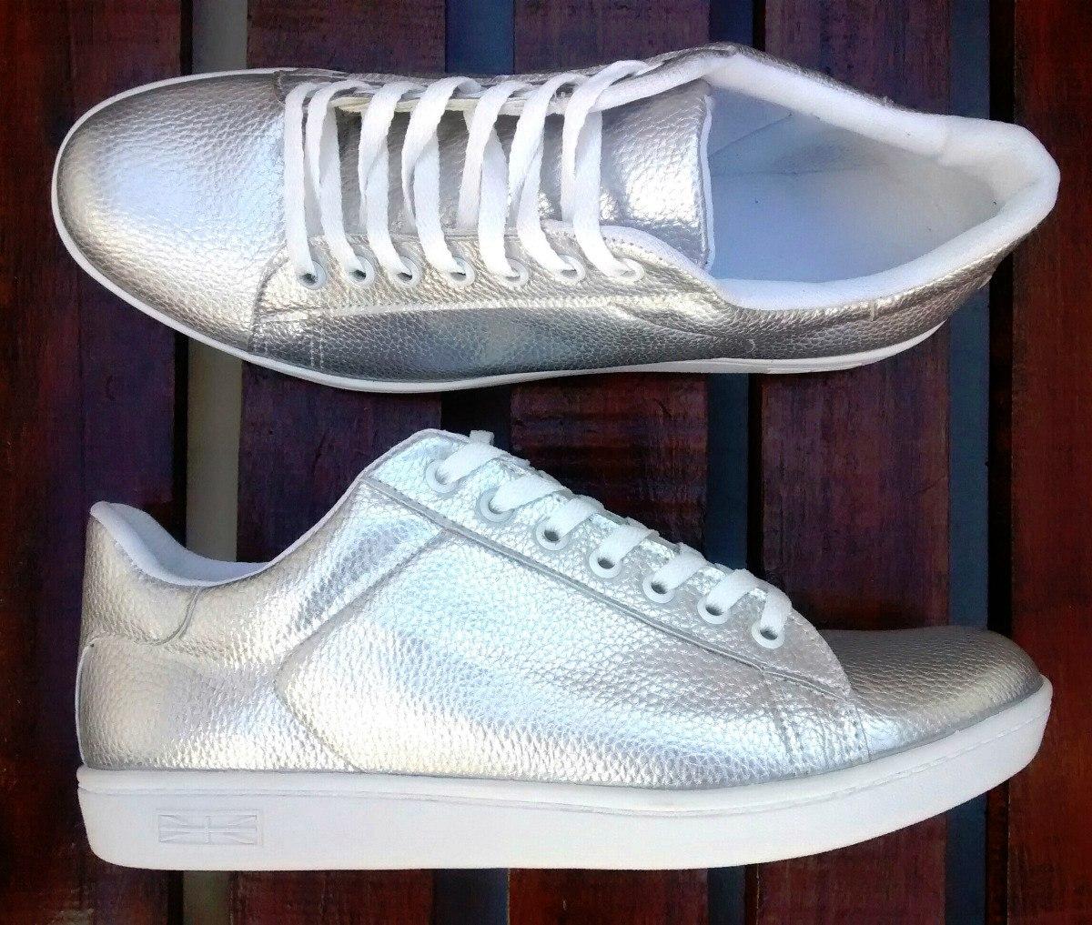 Zapatillas Plateadas Mujer Talles 35 2ec604a16be9a