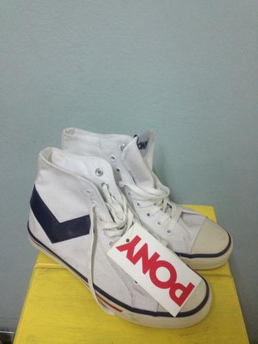 zapatillas pony botitas blancas