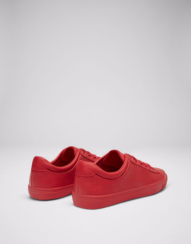 zapatillas pull & bear man picados color block rojo