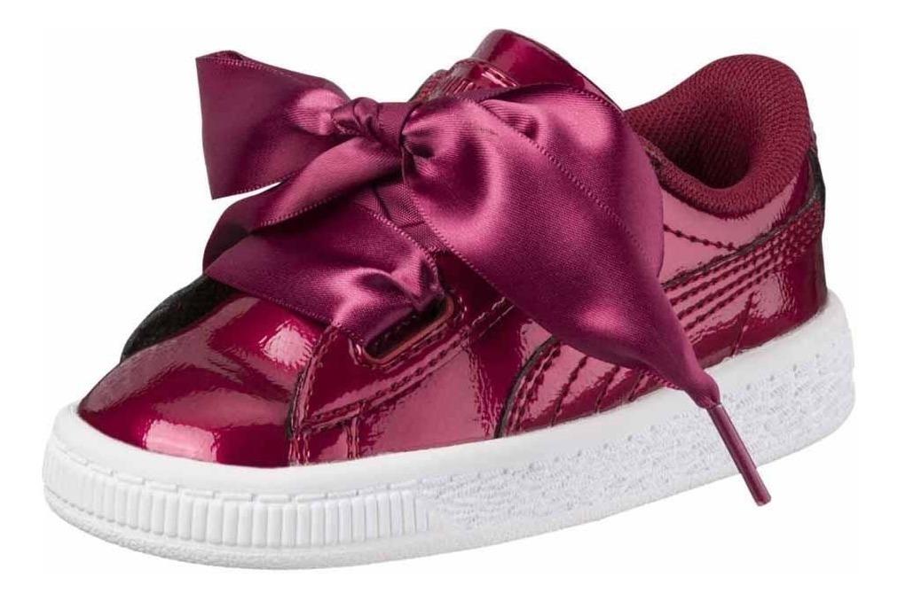 free shipping 6a4ab 29762 Zapatillas Puma Basket Heart Glam Ps De Niñas