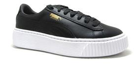 fbbc5a286cc2 Zapatillas Puma Mujer Plataforma Negras - Zapatillas en Mercado ...