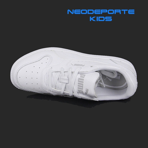 zapatillas puma blancas para niños escolar t 35-36-37 ndpj