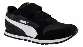 zapatillas negras niña puma