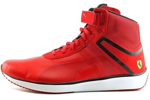 zapatillas puma ferrari  f116 skin mid red motorsport