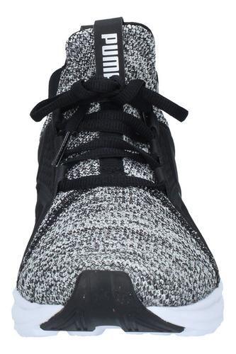 zapatillas puma hombre running enzo knit nm silver negro-317