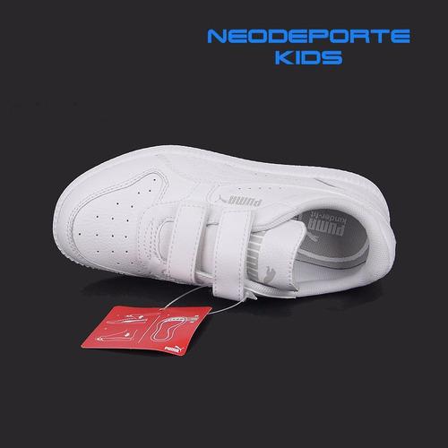 zapatillas puma icra trainer velcro para niños t 28-35ndpp