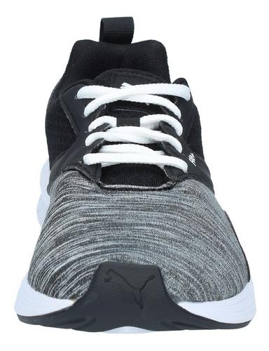 zapatillas puma niños gs running nrgy comet negro gris-2920