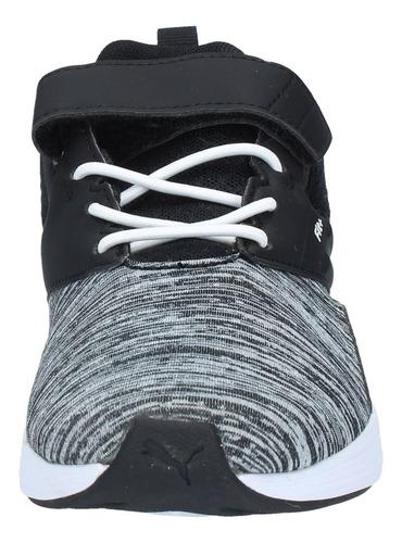zapatillas puma niños ps urbana nrgy comet v negro gris-3170