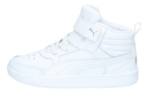 zapatillas puma niños ps urbana rebound street v2 l v blanca