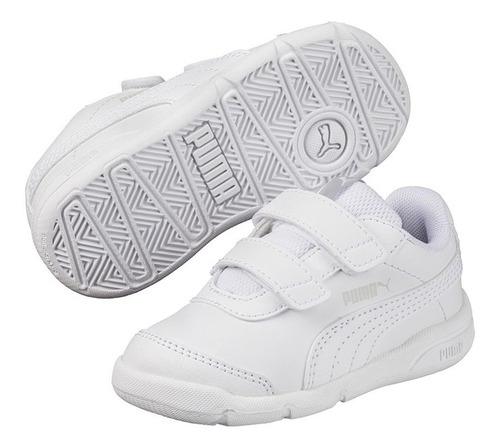 zapatillas puma niños stepfleex 2 sl v blanca-1652