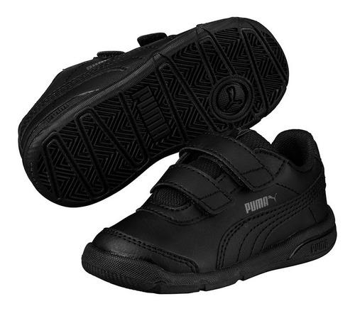 zapatillas puma niños stepfleex 2 sl v negra-1653