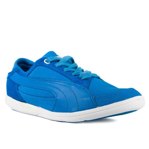 zapatillas puma plano canvas hombre azul
