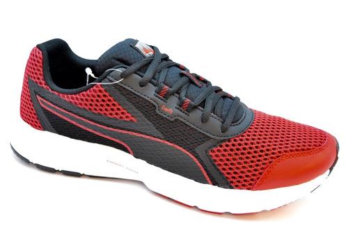 zapatillas puma running essential runner   rojo c/negro