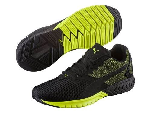 Zapatillas Puma Running Ignite Dual Hombre Negro C/fluo