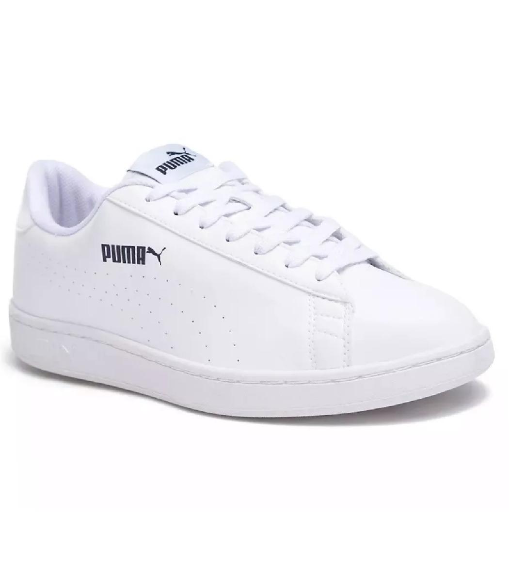 Zapatillas Puma Smash V2 L Perf Hombre - Blanco
