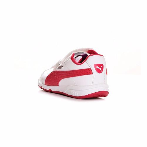 zapatillas puma stepfleex blancas para niños t 22-27 ndpi