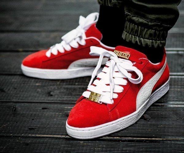 puma suede classic rojas