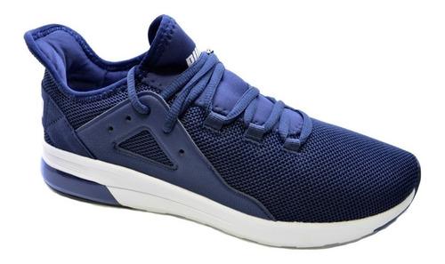 zapatillas puma training electron street hombre  gris o azul