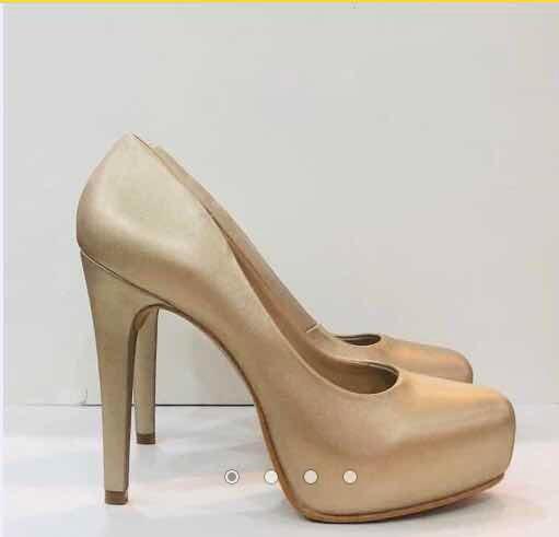 finest selection 5f749 f4ac1 Zapatillas Pumps Dorado Elegante Moda Dama Fiesta Stileto