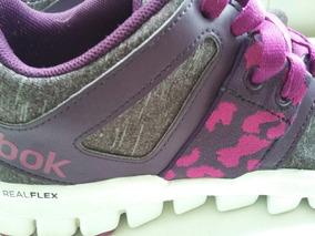 Zapatillas Reebok Realflex Mujer 38 Como Nuevas!