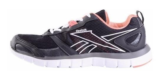 Negro Rosa Zapatillas Reebok Running Hexafect Mujer Negro