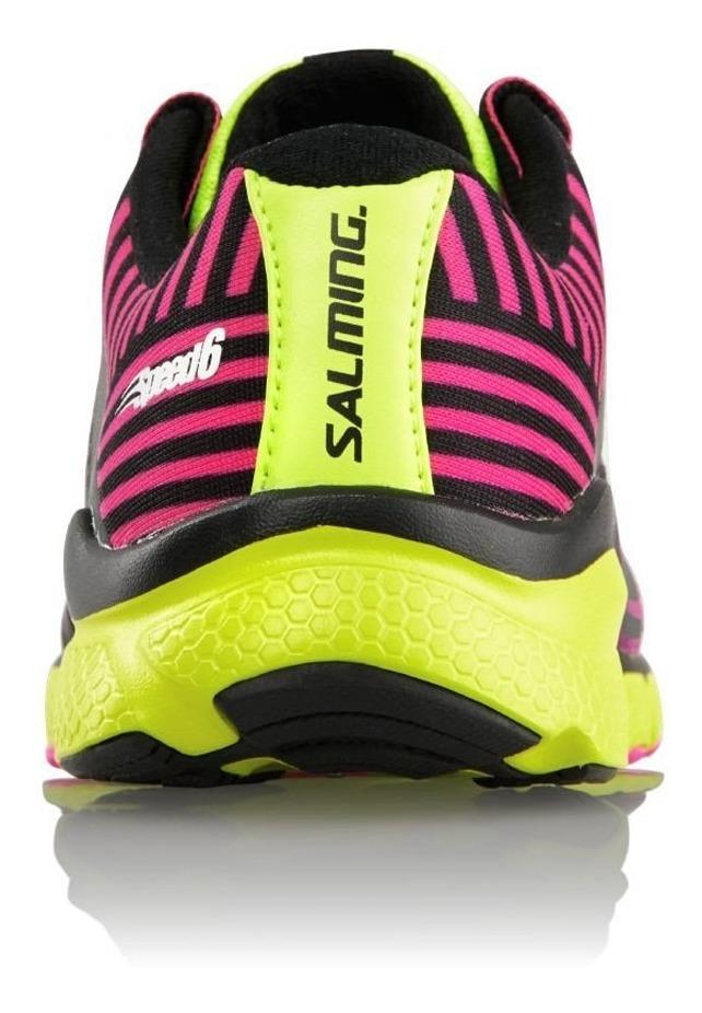 Zapatillas Running Salming Speed 6 Reflectivas Pink Mujer