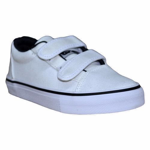 zapatillas rusty niño hans white canvas - rz010304