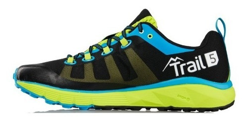 zapatillas salming trail 5 black green running hombre