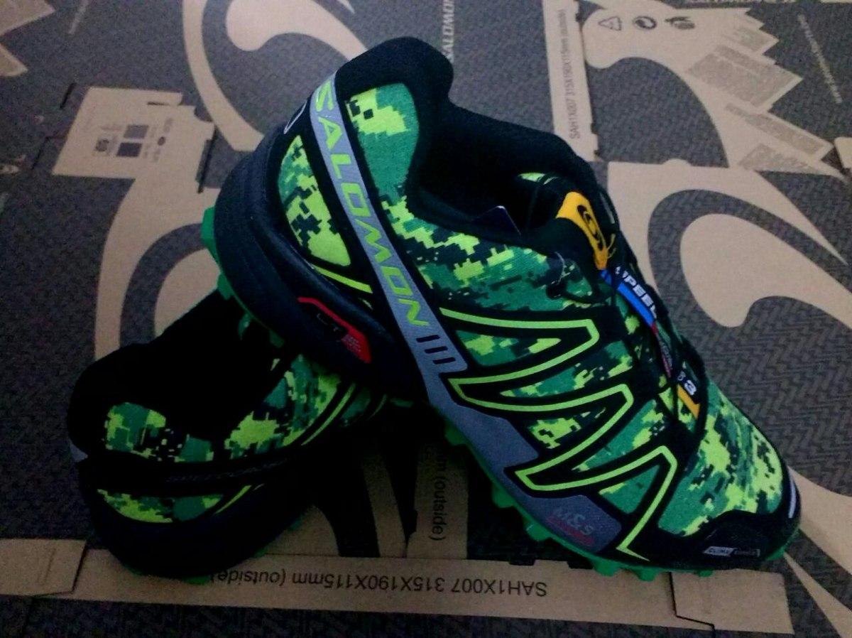 zapatillas salomon speedcross 3 camufladas verdes