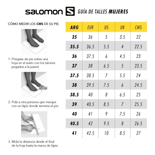 tallas de zapatos salomon zapatos