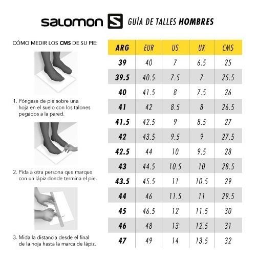 tabla tallas zapatillas salomon urbanas 60