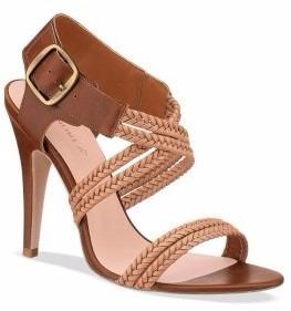 zapatillas sandalias andrea cafes tejidas tacón bajito