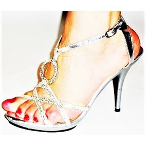 Fiesta Moda Cocktail Sandalias Pies Dama Calzado Zapatillas TF15Jc3lKu