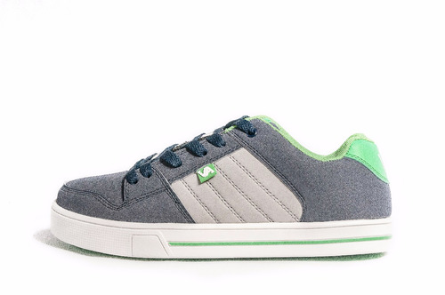 zapatillas skate hombre envio gratis cuero gray-green