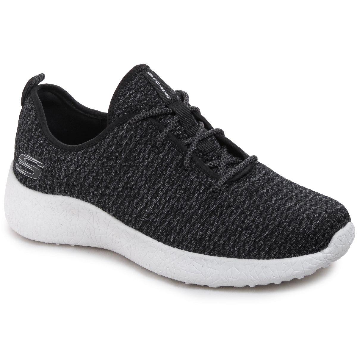 Skechers Burst-Donlen, Zapatillas para Hombre, Negro (Black), 41.5 EU