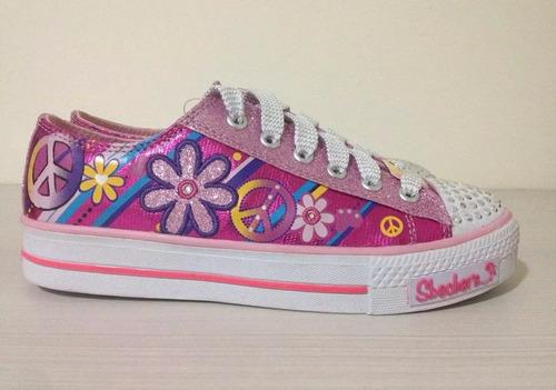 zapatillas skechers con luces para niñas o adolescentes