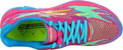 zapatillas skechers go run ultra road mujer rosa c/turquesa
