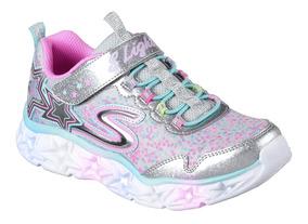 los Angeles elegir original en pies imágenes de Zapatillas Skechers Niña Galaxy Lights Luces Deportivas