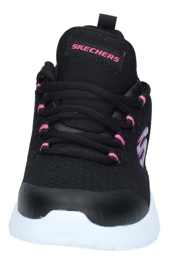 Zapatillas Skechers Niñas Training Dynamight Negra Patuelli