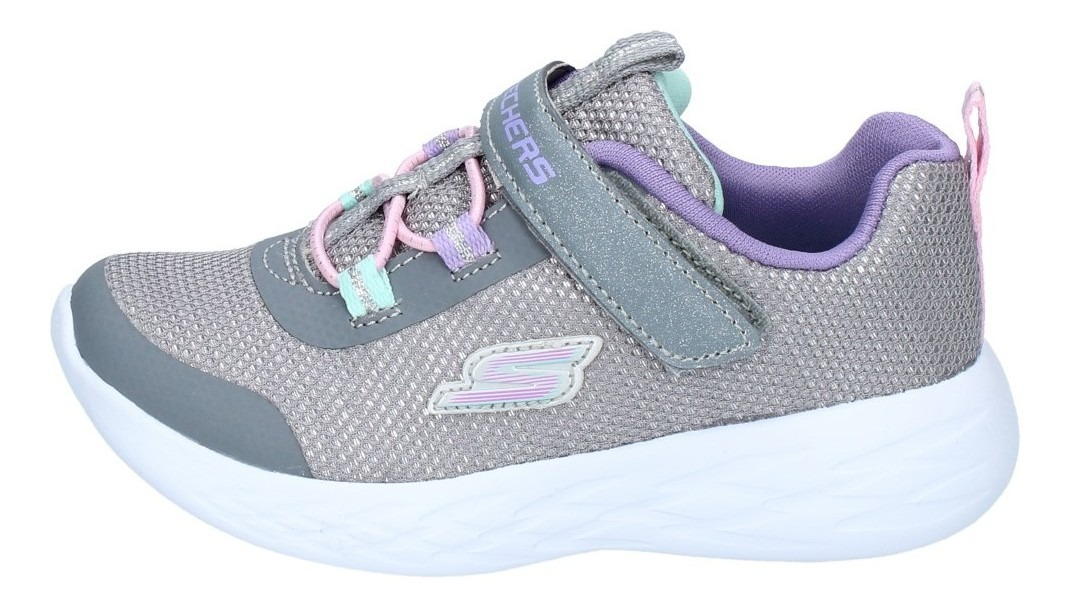 Zapatillas Skechers Niñas Urbana Go Run 600 Sparkle Gris