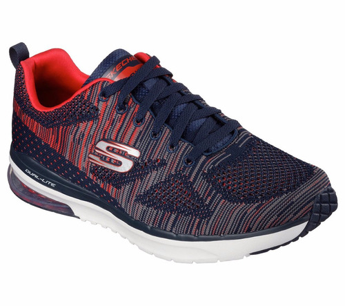 zapatillas skechers running air infinity hombre azul c/rojo
