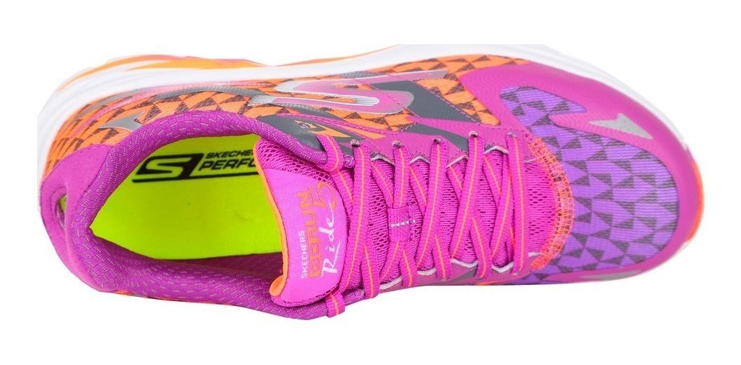 zapatillas skechers mujer running naranja 2019