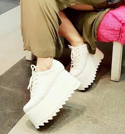 zapatillas de mujer blancas con plataforma 2017 moda,Zapato