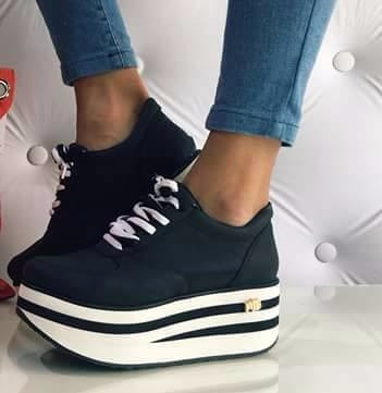 5dbff62b Zapatillas Sneakers Mujer Urbanas Plataforma Moda 2018 Full ...