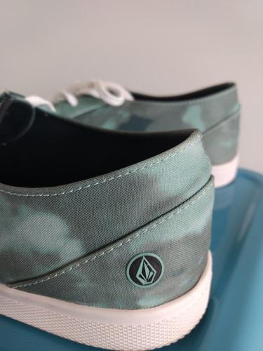 zapatillas sneakers volcom hombre. excelente, verde.talle 43