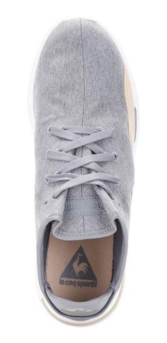 zapatillas solas 2 tones gris claro mujer le coq sportif