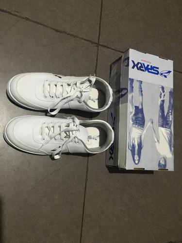 zapatillas spark!!! blancas para el colegio o diario!!!
