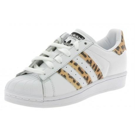 Zapatillas Superstar adidas Blancas Con Tiras Animal Print