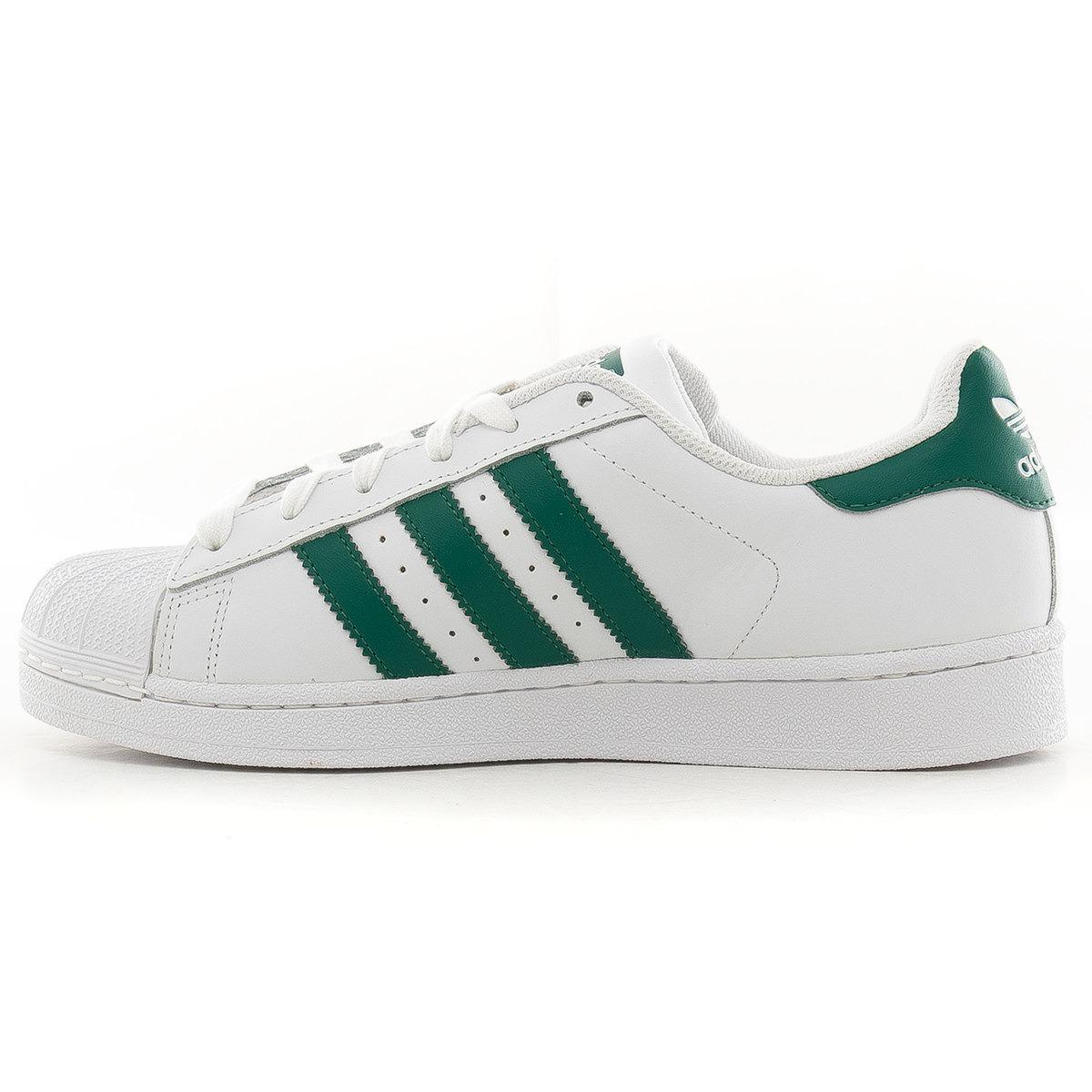 adidas superstar blanco con verde