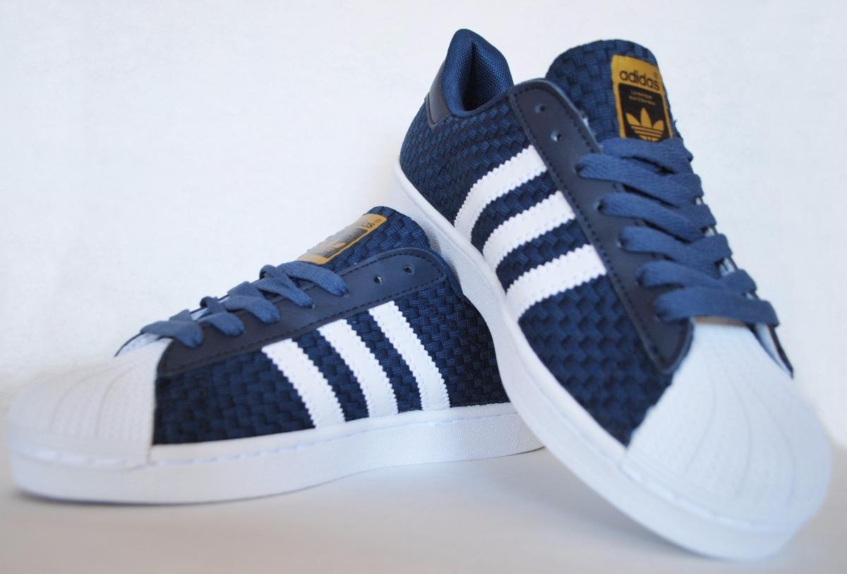 quality design d1daf 88942 zapatillas superstar hombre azul weave. Cargando zoom.